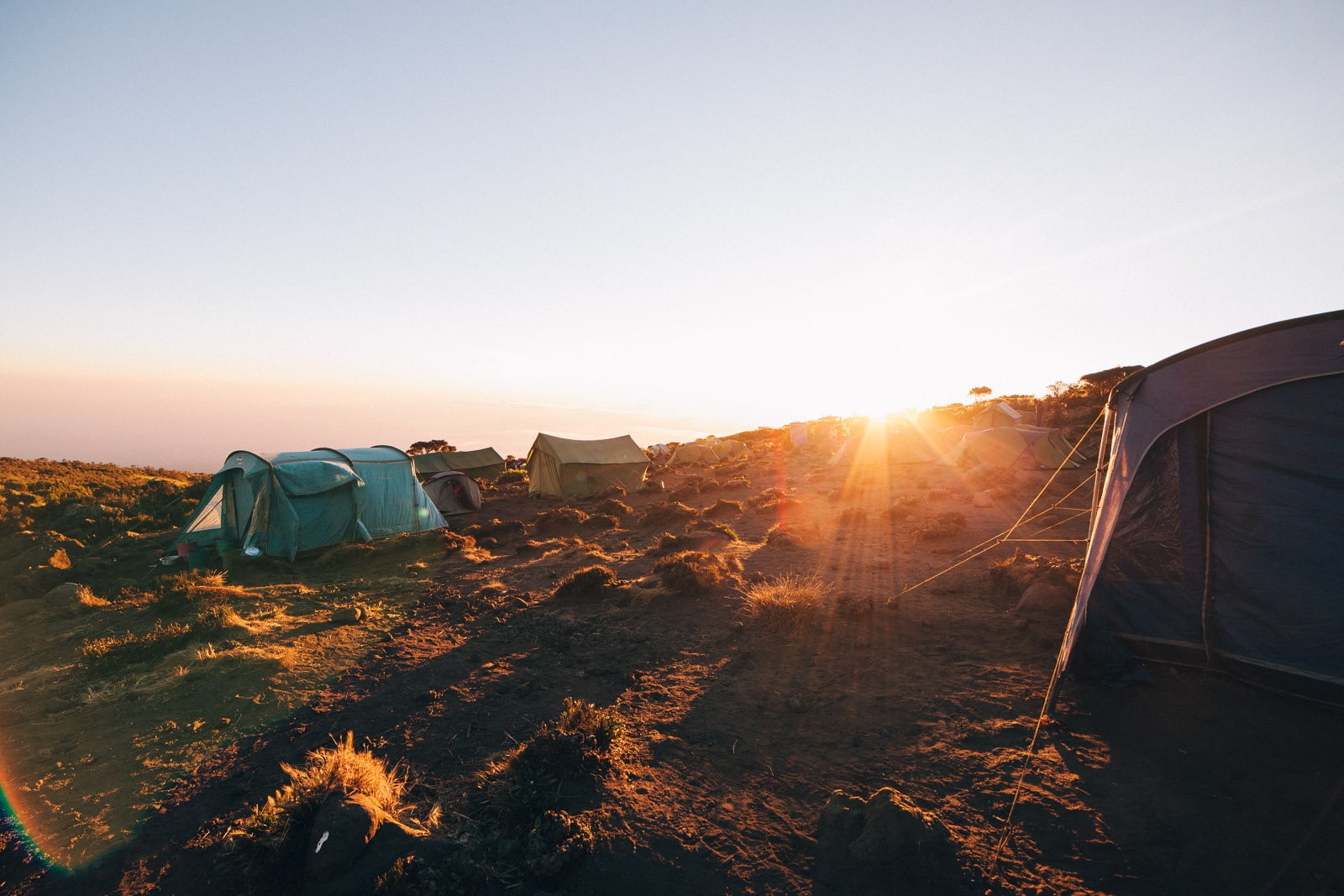 kilimanjaro morning sunrise camp