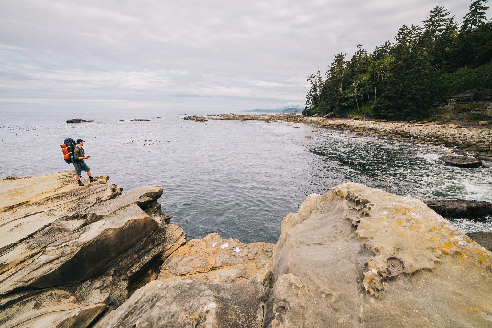 west coast trail rocky shore cliffs