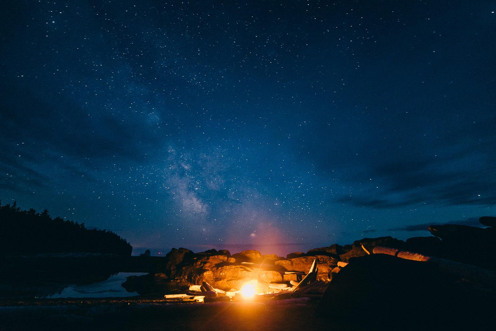 west coast trail stars milky way