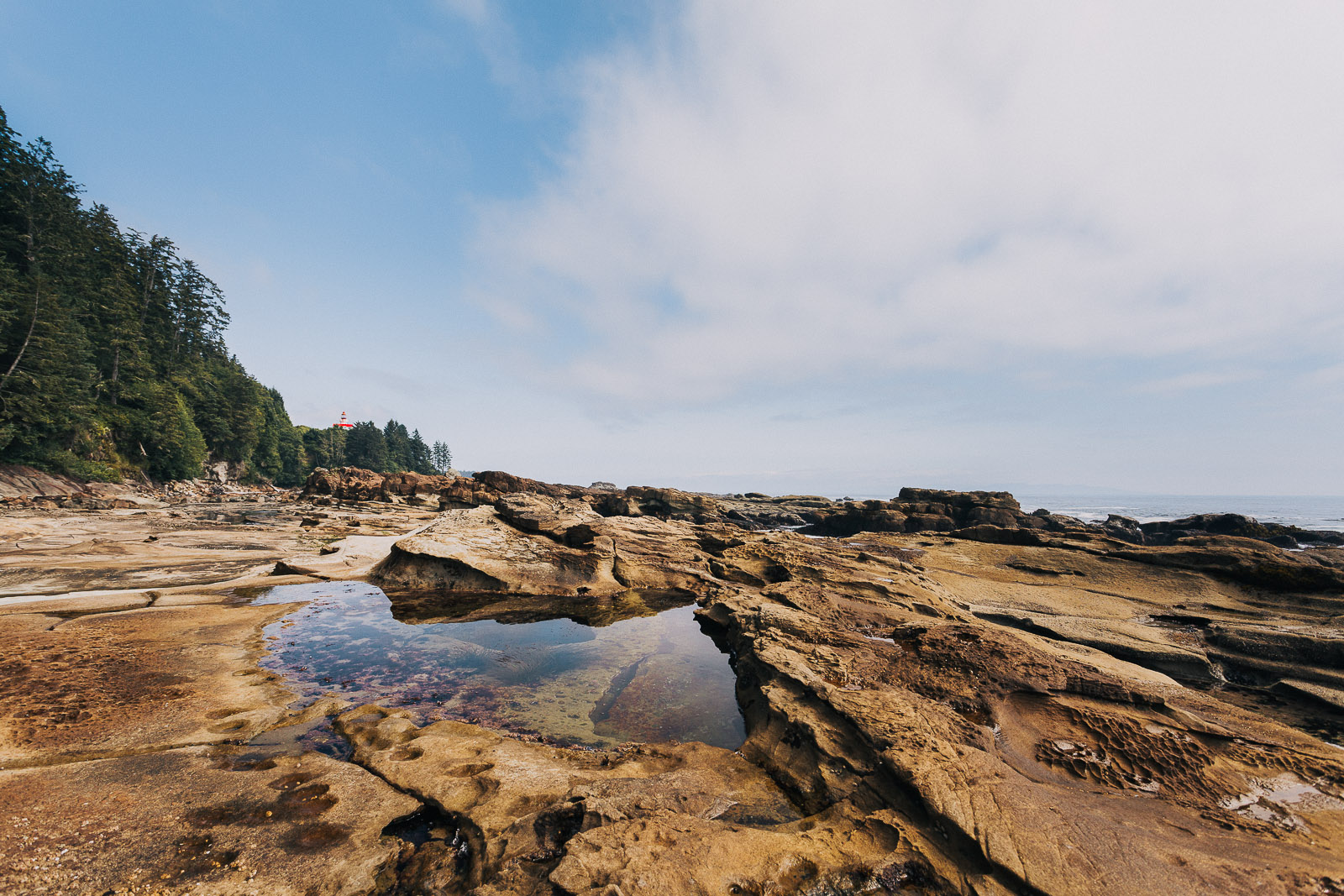 west coast trail tidal pool lighthouse