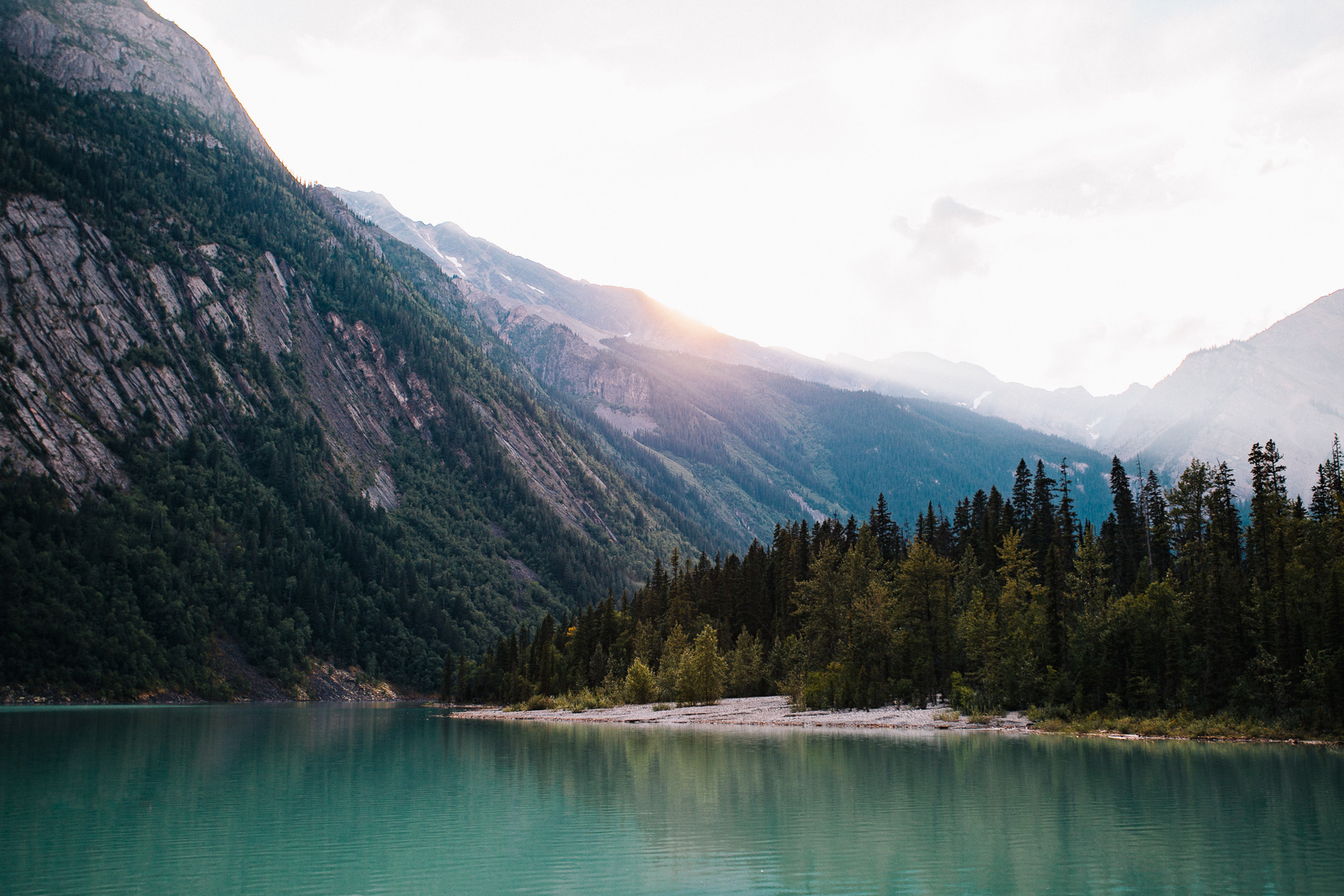 kinney lake sunset