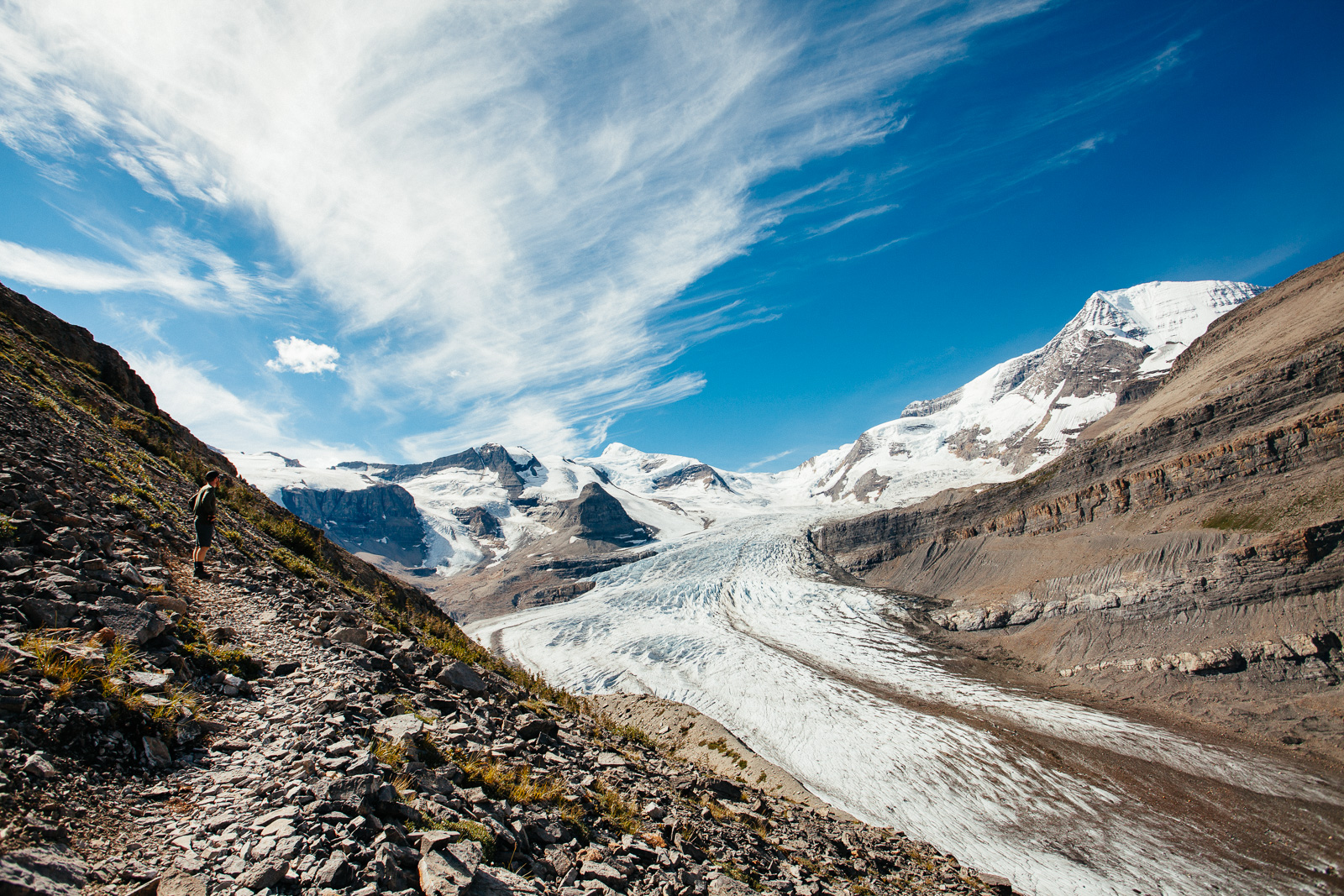 photo of the mount robson glacier