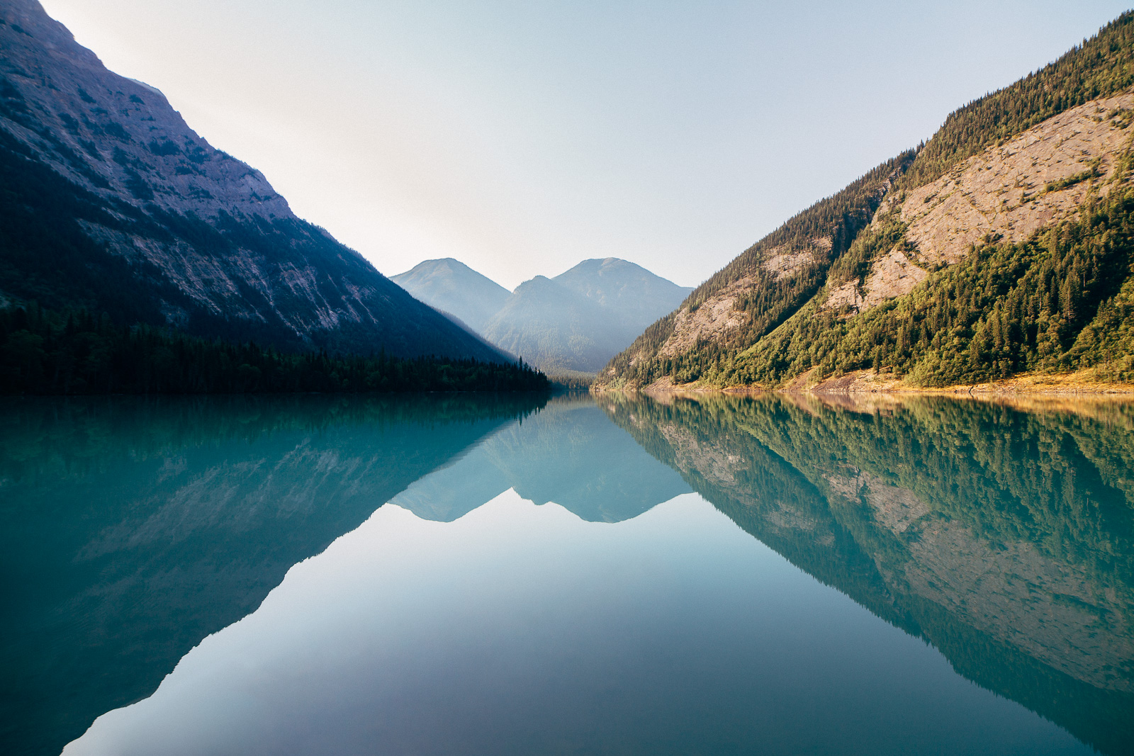 kinney lake morning reflections